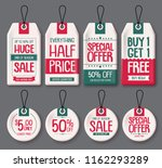 price tags template vector set. ... | Shutterstock .eps vector #1162293289