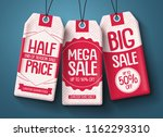 sale tags vector set. white... | Shutterstock .eps vector #1162293310