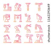 robotic arm  icons... | Shutterstock .eps vector #1162293649