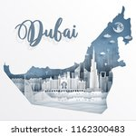 dubai with map concept and... | Shutterstock .eps vector #1162300483