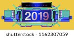 new year 2019 design template... | Shutterstock .eps vector #1162307059