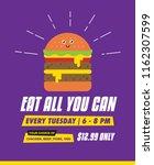 burger eating concept for... | Shutterstock .eps vector #1162307599