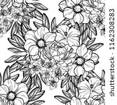 flower print in bright colors.... | Shutterstock .eps vector #1162308283