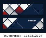 vector modern banners templates | Shutterstock .eps vector #1162312129