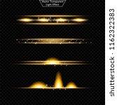 set of glowing light effect.  ... | Shutterstock .eps vector #1162322383