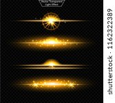 set of glowing light effect.  ... | Shutterstock .eps vector #1162322389
