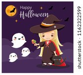 vector of cute witch for... | Shutterstock .eps vector #1162322599