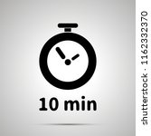 ten minutes timer simple black... | Shutterstock .eps vector #1162332370