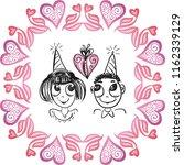 romantic card. vector... | Shutterstock .eps vector #1162339129