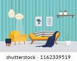 vector living room   yellow... | Shutterstock .eps vector #1162339519