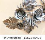 decorative ornamen with flower ... | Shutterstock . vector #1162346473