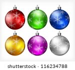 christmas color baubles... | Shutterstock .eps vector #116234788