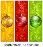 Christmas Balls On Three Color...