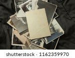 stack old photos on table. mock ... | Shutterstock . vector #1162359970
