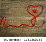 romantic valentines day red... | Shutterstock . vector #1162360156