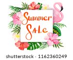summer sale. banner with... | Shutterstock .eps vector #1162360249