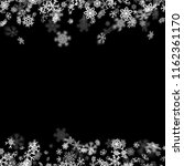 snowfall background with...   Shutterstock . vector #1162361170