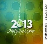 new year 2013 in white... | Shutterstock .eps vector #116236120