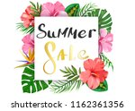 summer sale. banner with... | Shutterstock .eps vector #1162361356