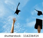 graduates throwing graduation... | Shutterstock . vector #116236414