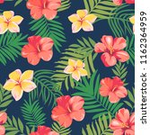 seamless pattern with tropical... | Shutterstock .eps vector #1162364959