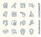 health check up line icons | Shutterstock .eps vector #1162366639