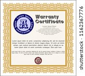 orange formal warranty... | Shutterstock .eps vector #1162367776
