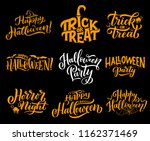 happy halloween lettering... | Shutterstock .eps vector #1162371469