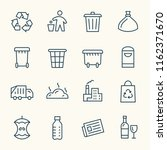 garbage line icons | Shutterstock .eps vector #1162371670