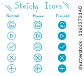hand drawn sketchy icon set