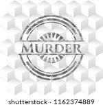 murder grey badge with... | Shutterstock .eps vector #1162374889