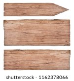 empty old nature wooden signs | Shutterstock . vector #1162378066