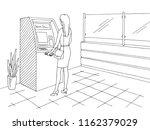bank interior graphic black... | Shutterstock .eps vector #1162379029