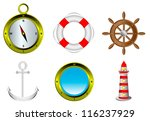 sailing icons isolated on white ... | Shutterstock .eps vector #116237929
