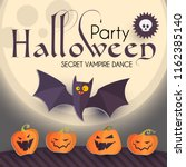 halloween party design template ... | Shutterstock .eps vector #1162385140