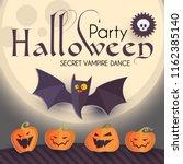 halloween party design template ... | Shutterstock .eps vector #1162385140