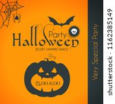 halloween party silhuette... | Shutterstock .eps vector #1162385149