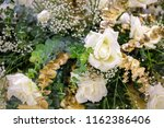 flowers decorate wedding green  ... | Shutterstock . vector #1162386406