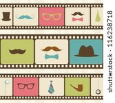 retro background with film... | Shutterstock .eps vector #116238718