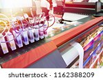 ink in cartridges and plotter | Shutterstock . vector #1162388209