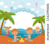hello summer  amazing childish... | Shutterstock .eps vector #1162390606