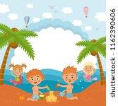 hello summer  amazing childish... | Shutterstock .eps vector #1162390606