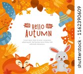 hello autumn  fall greeting... | Shutterstock .eps vector #1162390609