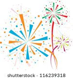 fireworks different colors on... | Shutterstock .eps vector #116239318