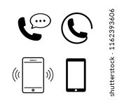 telephone or mobile icon vector | Shutterstock .eps vector #1162393606