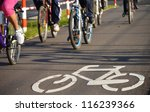 Bicycle Road Sign On Asphalt....