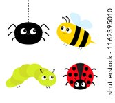 cute cartoon insect set.... | Shutterstock .eps vector #1162395010
