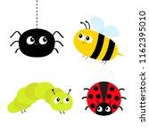 cute cartoon insect set.... | Shutterstock .eps vector #1162395010