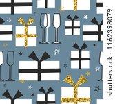 seamless pattern  christmas... | Shutterstock .eps vector #1162398079