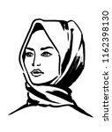 portrait of a muslim woman....   Shutterstock .eps vector #1162398130